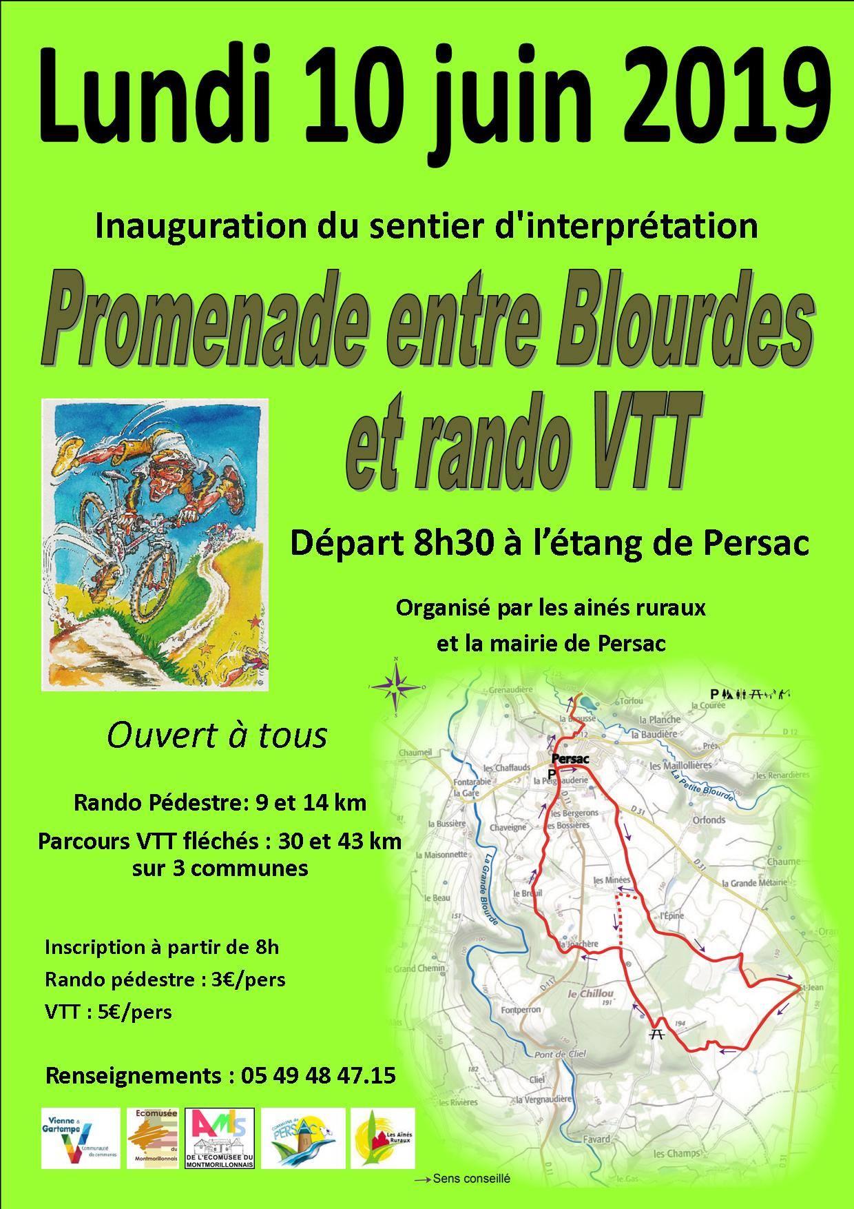 "Inauguration du sentier ""Promenade entre Blourdes"""